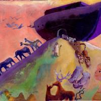 Noah's Ark 8 - acrylic on paper