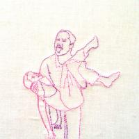 Father- embroidery on canvas 20x30 cm 2006