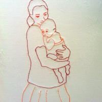 Penelope -  Vessy and Kalina 2014 - mbroidery on canvas 50x70 cm